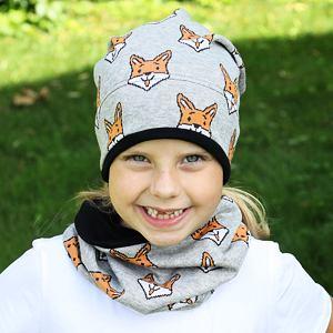 Zimní čepice lišky