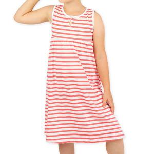 Letní šaty červené proužky