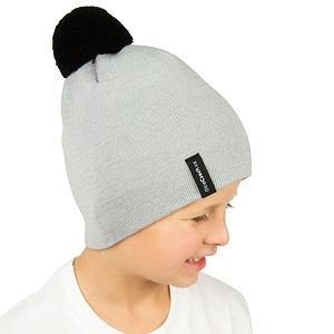 Zimní čepice pletená světle šedá