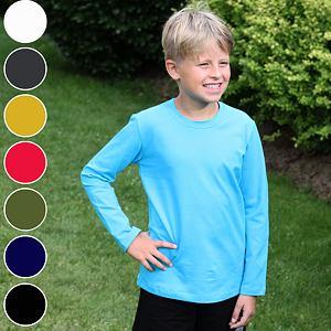 Chlapecké triko s dlouhým rukávem basic