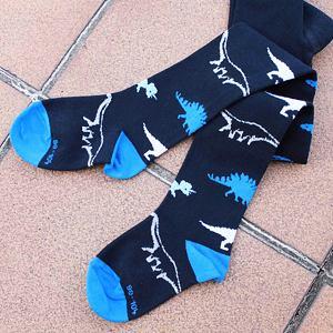 Punčocháče dinosauři na tmavě modré