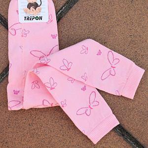 Pletené legíny motýlci na růžové