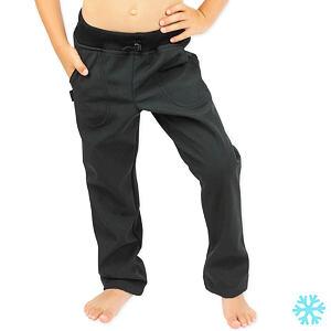 Zimní softshell kalhoty SLIM černé