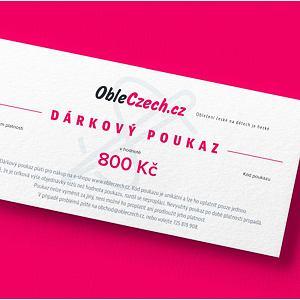 ObleCzech - dárkový poukaz 800 Kč