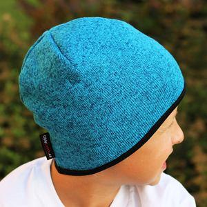 Zimní čepice svetrovina tyrkys