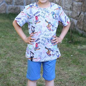 Pyžamo letní skate