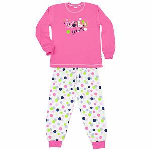 Pyžamo puntíky na růžové