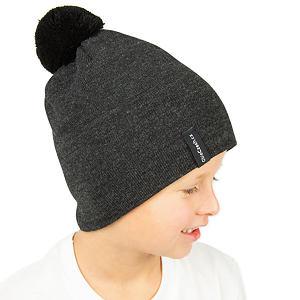 Zimní čepice pletená tmavě šedá