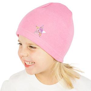 Zimní čepice světle růžová