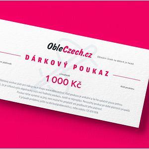 ObleCzech - dárkový poukaz 1 000 Kč