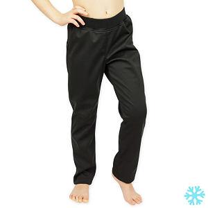 Zimní legínové softshell kalhoty černé