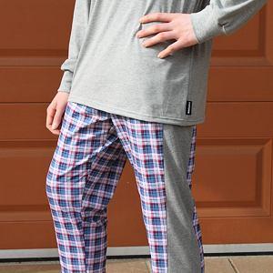 Pánské pyžamo krátké/dlouhé kostkované