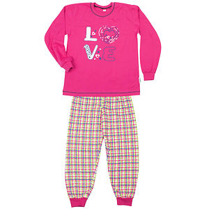 Pyžamo love tmavě růžové