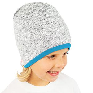 Zimní čepice svetrovina s tyrkys podšívkou