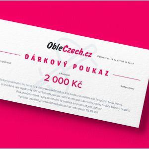 ObleCzech - dárkový poukaz 2 000 Kč