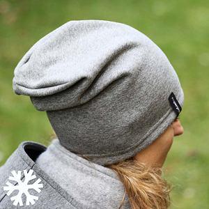 Zimní čepice dámská šedá