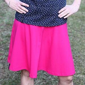 Kolová sukně malinová