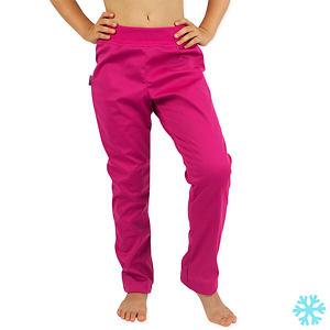 Zimní legínové softshell kalhoty růžové