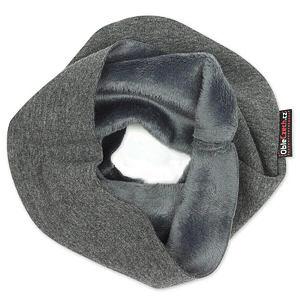 Zimní nákrčník tmavě šedý melír