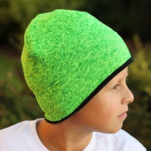 Zimní čepice svetrovina limet