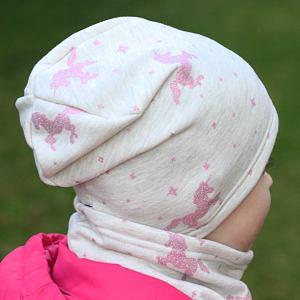 Zimní čepice jednorožci