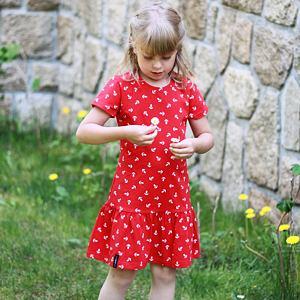 Letní šaty kotvičky na červené