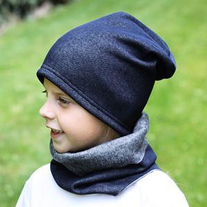 Zimní čepice denim