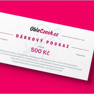 ObleCzech - dárkový poukaz 500 Kč