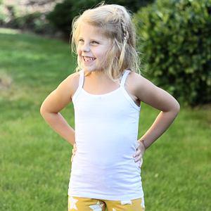 Dívčí košilka bílá
