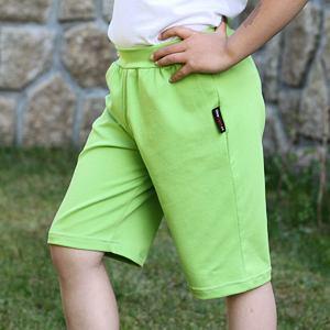 Kraťasy jednobarevné zelené