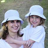Dámský i dívčí letní klobouk šedé kytky ObleCzech