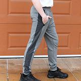 Pánské teplákové kalhoty šedý melír a tmavě šedý lampas ObleCzech