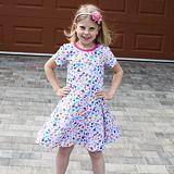 Letní šaty barevné bubliny