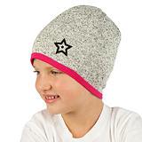 Zimní čepice svetrovina s hvězdičkou