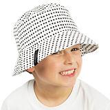 Chlapecký letní klobouček černobílý ObleCzech