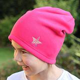 Zimní čepice růžová s hvězdičkou