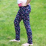 Legíny pro dívky zlaté a barevné větší puntíky na tmavě modré ObleCzech