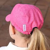 Letní kšiltovka s růžovým melírem bavlněná ObleCzech