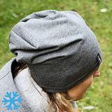 Zimní čepice dámská šedý melír