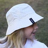 Dívčí letní klobouček puntíky na béžové ObleCzech