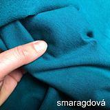 Dámská smaragdová jednobarevná mikina prodloužená ObleCzech