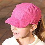 Letní dívčí čepice bavlněná melírovaná růžová ObleCzech