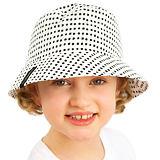 Dívčí letní klobouček černobílý ObleCzech