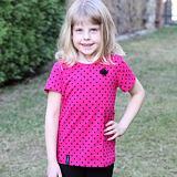 Tričko puntíky na růžové