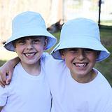 Dětská letní čepice jednobarevná světle modrá ObleCzech