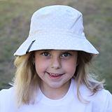 Dívčí letní klobouk puntíkovaný ObleCzech