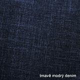 Dámská mikina prodloužená tmavě modrý denim bavlněná ObleCzech