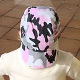 Dětská dívčí kšiltovka maskáč světle růžový ObleCzech