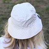 Letní bavlněný klobouk puntíčky na béžové ObleCzech