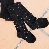 Punčocháče puntíky na černé